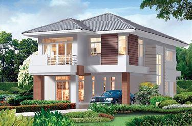 Mẫu nhà 2 tầng đẹp ở nông thôn